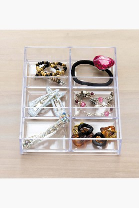 Transparent Drawer Organizer Mini Tray - 6 Compartment