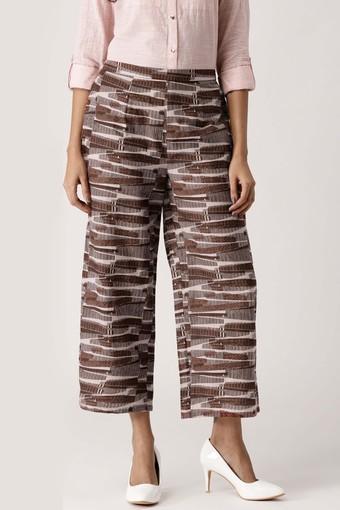 Womens 2 Pocket Printed Palazzos