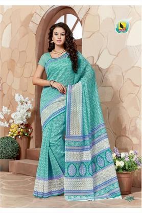 ASHIKAWomens Printed Saree With Blouse Piece - 204576990_9456