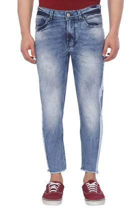 2460bc70c0f4 X BEING HUMAN Mens 5 Pocket Acid Wash Jeans