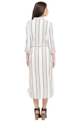 Womens Striped Shirt Dress