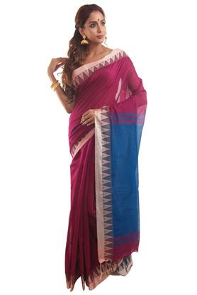 HAST VASTRA Womens Woven Saree With Blouse - 204613242_9568