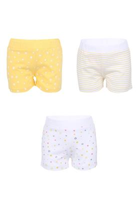 Girls Printed and Striped Shorts - Pack of 3