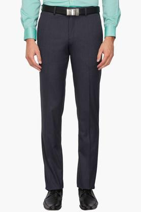 LOUIS PHILIPPE Mens 4 Pocket Slub Formal Trousers - 203340797