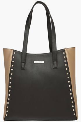 X Elliza Donatein Womens Zipper Closure Tote Handbag