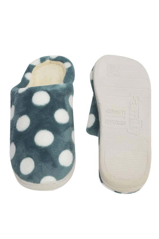 Polka Dot Slipon Bath Slippers