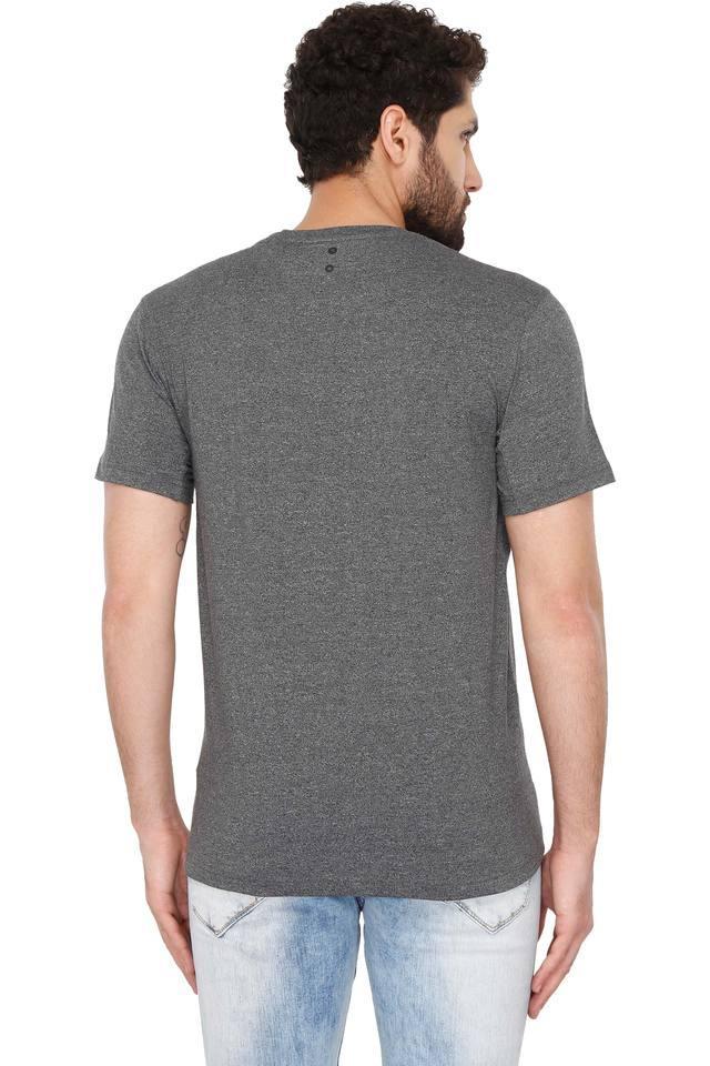 Mens Round Neck Textured T-Shirt