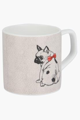 IVYRound Puja Pup With Red Bow Printed Mug