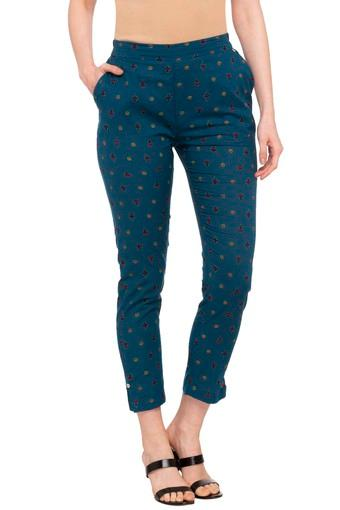 Womens 2 Pocket Printed Pants