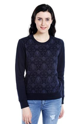 109F Womens Round Neck Printed Sweatshirt