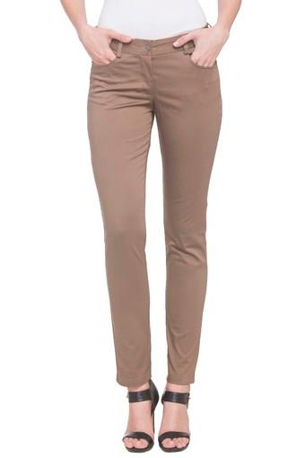 Womens 4 Pocket Solid Pants