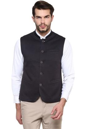 Mens Mao Collar Solid Waistcoat