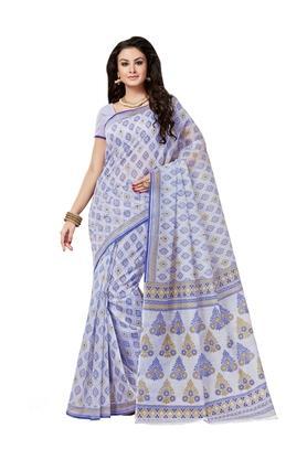 ASHIKAWomens Printed Saree With Blouse Piece - 204576988_7086