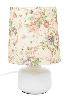 IVY Round Floral Print Table Lamp - 204630325_9800
