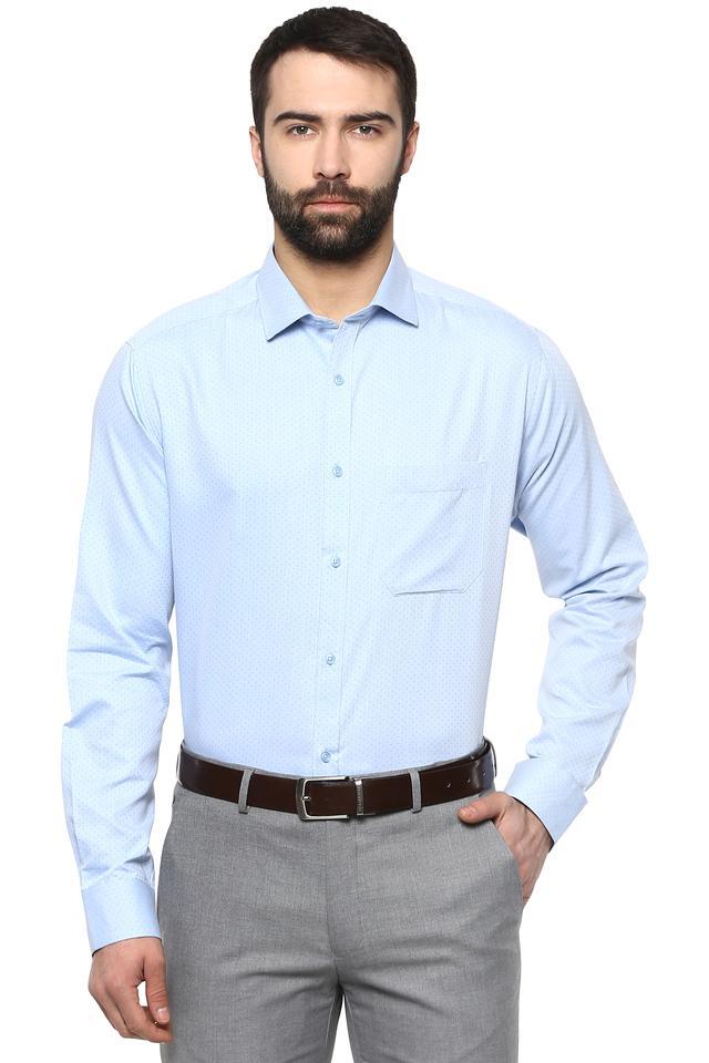 Mens Slim Collar Dotted Shirt