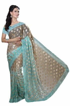 DEMARCA Womens Chiffon Padding Designer Saree