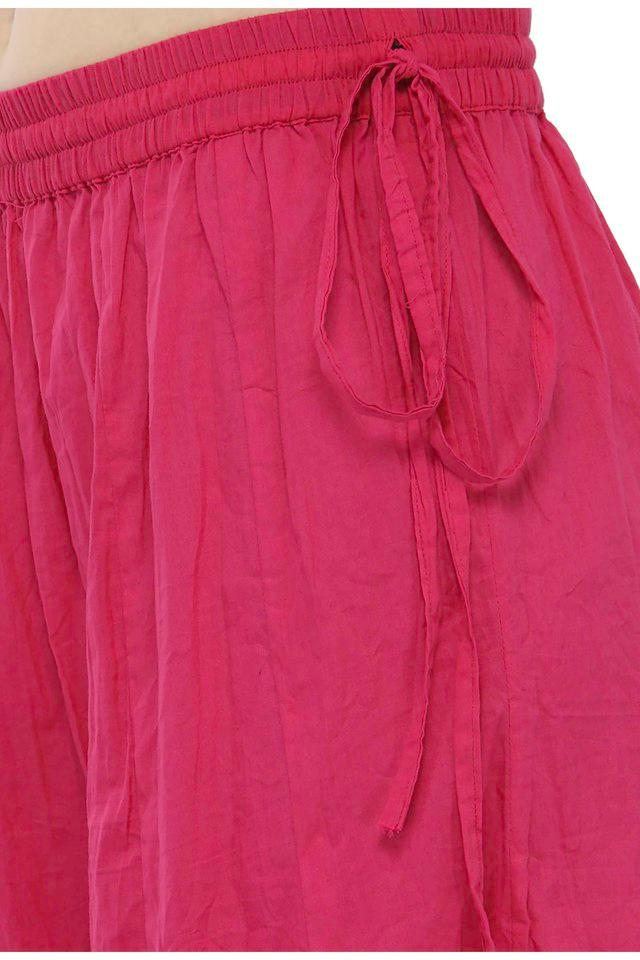 Women solid cotton flared palazzo