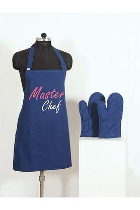 SWAYAM Printed Adjustable Apron With Oven Mitts - Set Of 3 - 204599788_8688