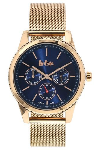 Womens Blue Dial Metallic Multi-Function Watch - NLC06201490