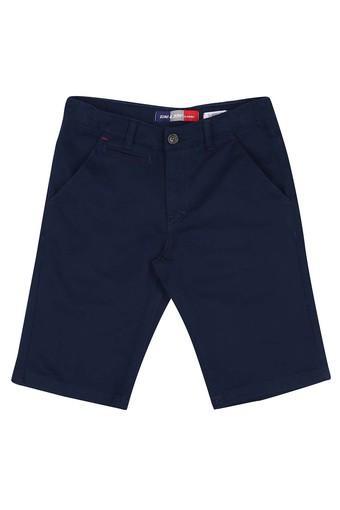 Boys 5 Pocket Solid Bermudas