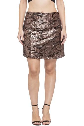 Womens Sequin Embellished Skirt