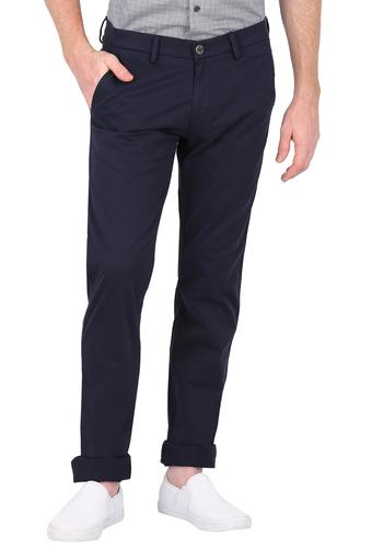 ALLEN SOLLY -  Dark Blue Formal Trousers - Main