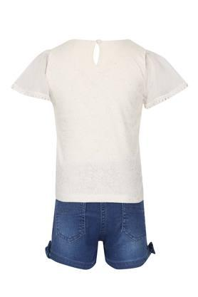 Girls Round Neck Assorted Shorts and Top Set