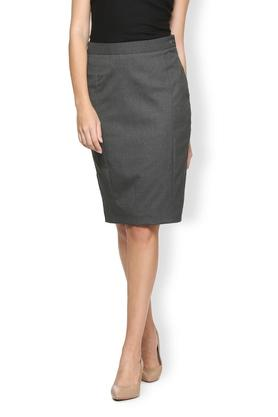 VAN HEUSEN Womens Slub Knee Length Formal Skirt