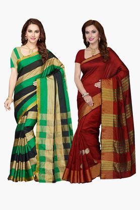 ISHINWomens Bhagalpuri Art Silk Printed Sarees - 203260375