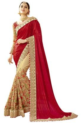 Womens Faux Georgette Art Silk Designer Saree