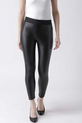 Womens Coated Treggings