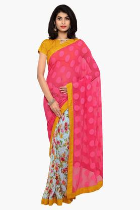 DEMARCA Womens Faux Georgette Printed Saree - 203231061
