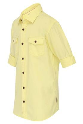 Boys 2 Pocket Solid Shirt