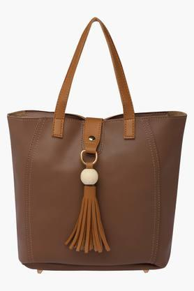 STOP Womens Zipper Closure Tote Handbag - 202722300