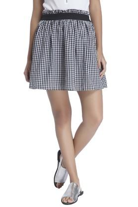 VERO MODA Womens Check Mini Skirt