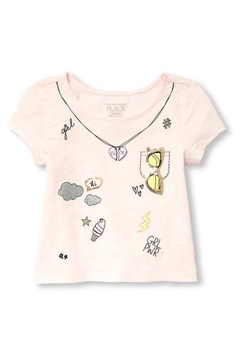 THE CHILDREN'S PLACE -  Pale Peach Topwear - Main