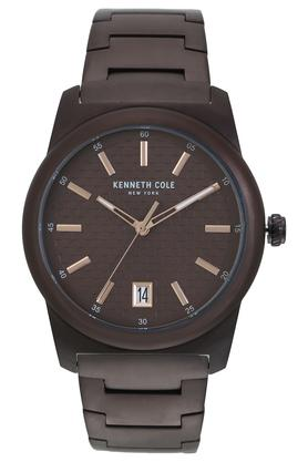 Mens New York Brown Dial Metallic Analogue Watch - KC50713002MN
