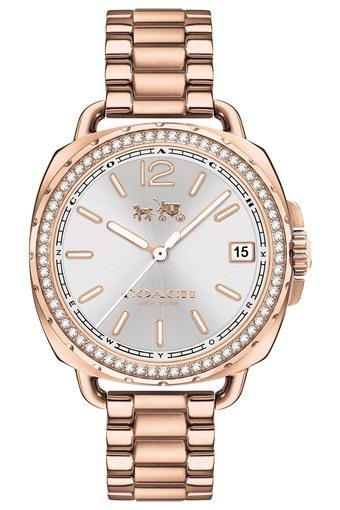 Womens Analogue Rose Gold Plated Stainless Steel Watch - 14502644