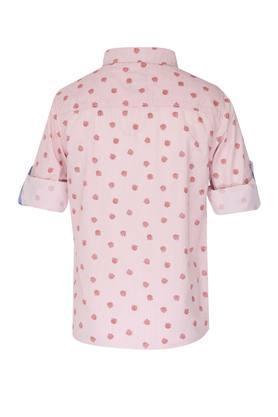 Boys Regular Collar Printed Shirt