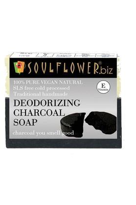 SOULFLOWERDeodorising Charcoal Handmade Soap