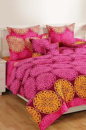 SWAYAMPrinted Double Bed Sheet With 2 Pillow Covers - 204274651_9654
