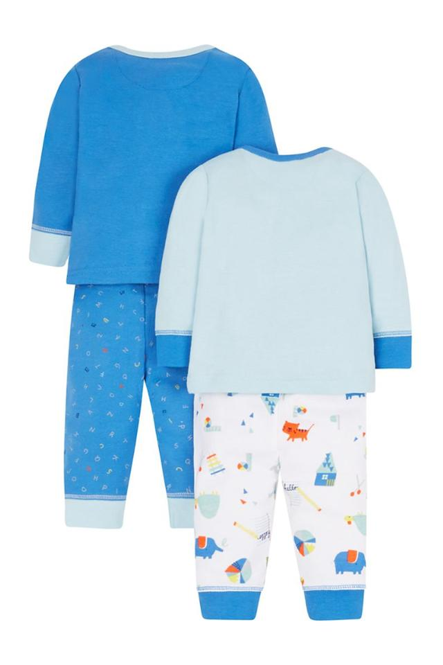 Boys Envelope Neck Printed Top and Pants - Pack Of 2