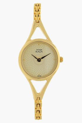 TITAN Womens Raga Gold Dial Analog Watch - NJ2494YM01