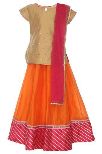 STOP -  OrangeGhagra Choli - Main