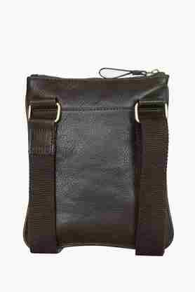 Mens Zipper Closure Sling Bag