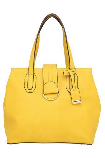 Womens Snap Closure Satchel Handbag