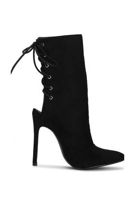 Womens Lace Up Stiletto Ankle Boots