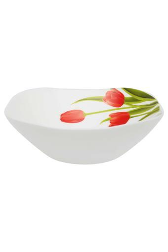 Blossoms Printed Square Serving Bowl