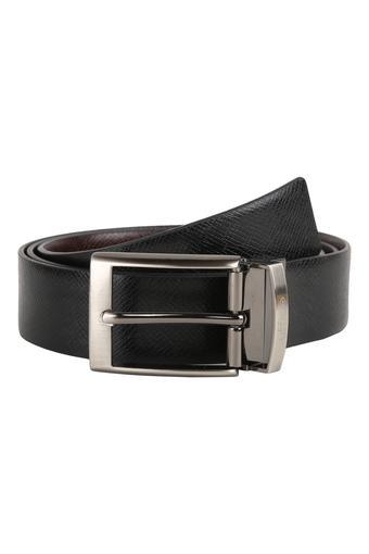 Mens Buckle Closure Formal Reversible Belt