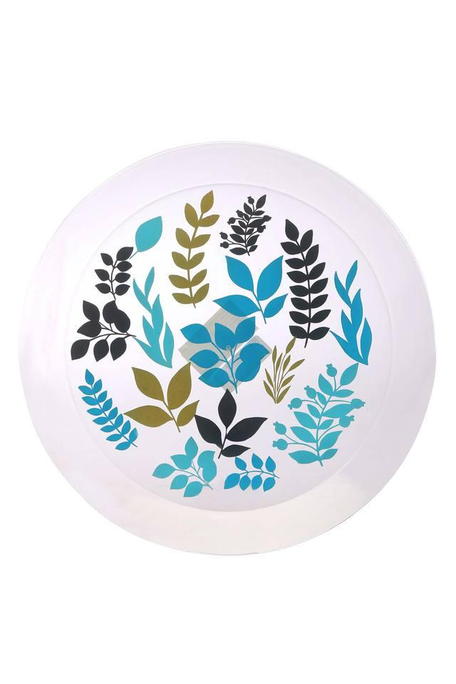 Round Foliage Printed Dinner Plate